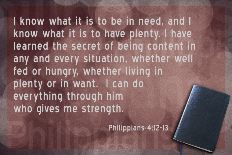 Memorize Scripture: Philippians 4:12-13 - JeffRandleman.com