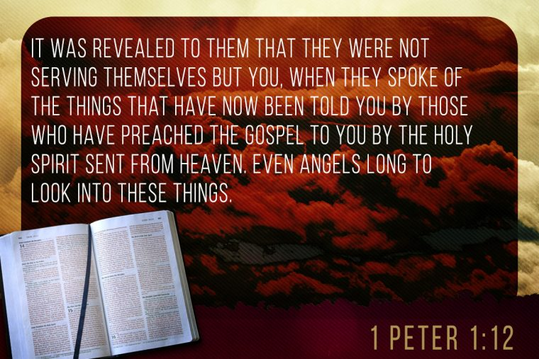 Image result for 1 peter 1:12 image