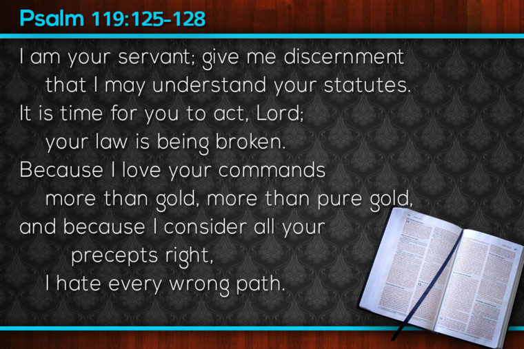 Psalm 119:125-128